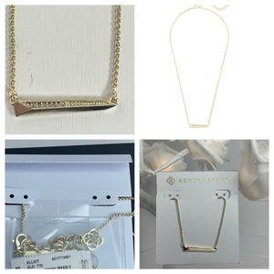 Kendra Scott Elliot Gold Bar Necklace Rhinestones
